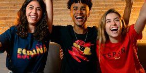Promoción Eurocopa 2021 Pack x3 camisetas selección española baratas en Sprinter