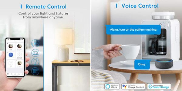 Pack x3 Enchufes WiFi Meross de 16 A compatibles con asistentes de voz chollo en Amazon