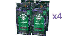 Pack x4 Café de grano entero Starbucks Espresso Roast barato en Amazon