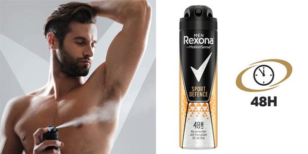 Pack x6 Desodorante Rexona Men Sport Defence antitranspirante de 150 ml/ud chollo en Amazon