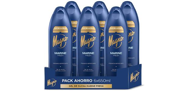 Pack x6 Gel de ducha Magno Marine Fresh de 650 ml barato en Amazon