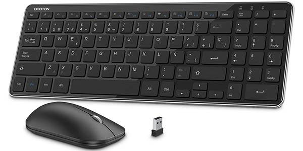 Combo de teclado y ratón inalámbricos OMOTON