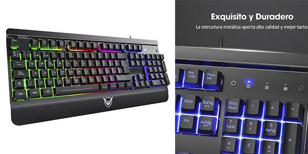 pictek teclado gaming chollo