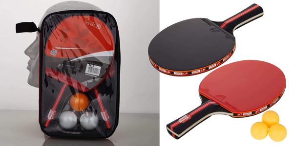 Set Ping Pong Amaza con 2 Palas + 3 pelotas barato en Amazon