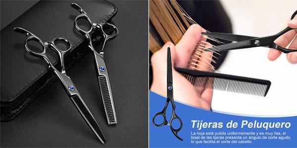 Set x13 Piezas de peluquería Lictin con estuche chollo en Amazon