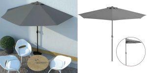 Sombrilla de balcón semicircular vidaXL oferta en VidaXL
