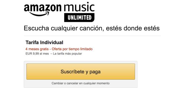 Suscripción a Music Unlimited
