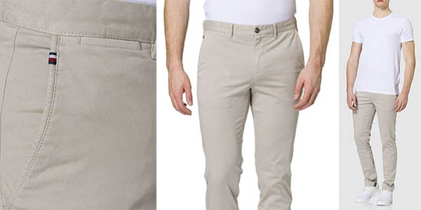Tommy Hilfiger Bleecker TH Flex Satin pantalón chino oferta