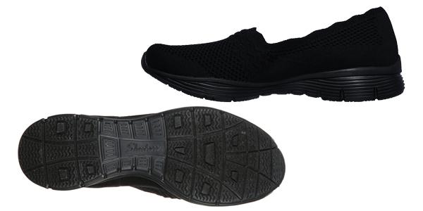 Zapatillas sin cordones Skechers Seager para mujer oferta en Amazon