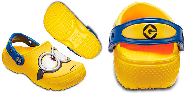 Zuecos Crocs Fun Lab Minions para niños baratos