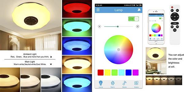 Abedoe lámpara LED regulable altavoz Bluetooth oferta