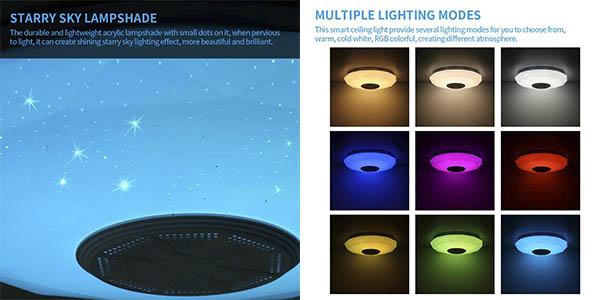 Abedoe lámpara LED techo barata