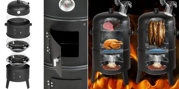 Barbacoa grill 3 en 1 con 3 niveles para asar oferta en Manomano