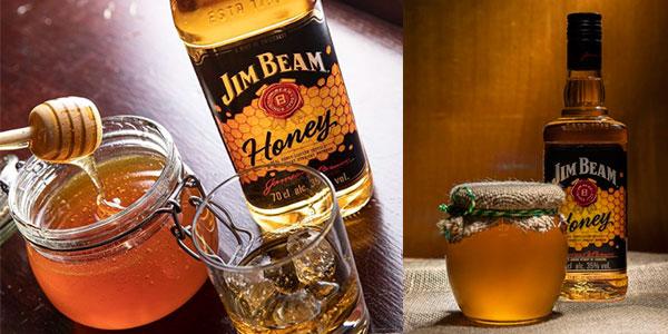 Bourbon con miel Jim Beam Honey de 700 ml barato
