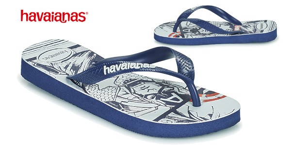 Chanclas unisex Havaianas HAV Top Marvel Navy Blue baratas en Amazon