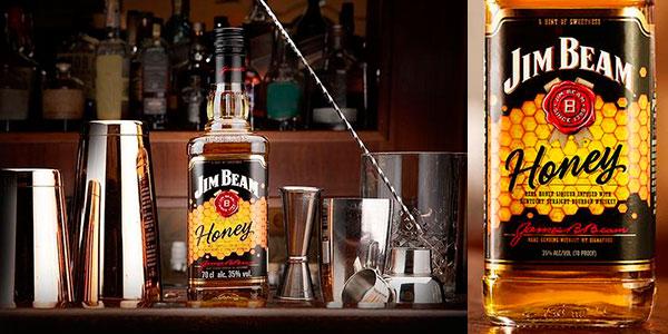 Bourbon con miel Jim Beam Honey de 700 ml en oferta