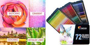 Chollo Caja metálica Zenacolor de 72 lápices de colores