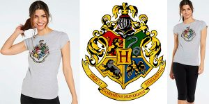 Chollo Camiseta Harry Potter Hogwarts para mujer