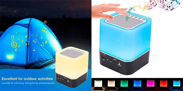 Chollo Lámpara altavoz USB Sootop con Bluetooth
