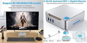 Chollo Mini PC Windows 10 Pro Intel Celeron J4125 [6 GB DDR4 + 128 GB ROM]