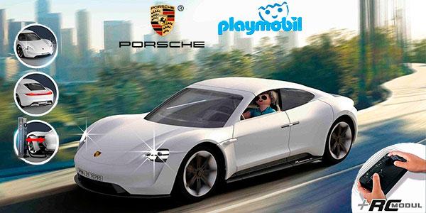Chollo Coche a radio control Porsche Mission E con luz de Playmobil