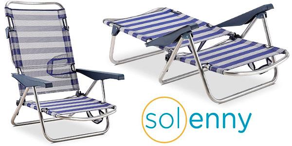 Chollo Silla de playa Solenny plegable de 4 posiciones