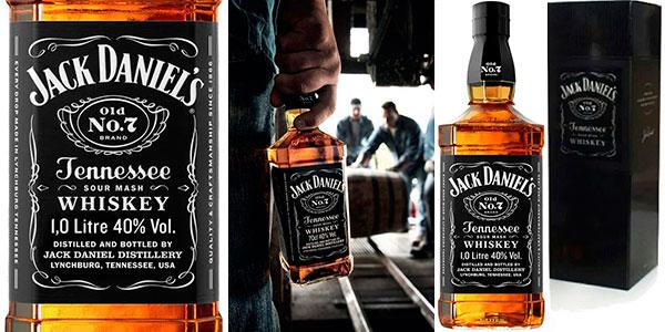 Chollo Whiskey Jack Daniel's Old No. 7 de 1.000 ml en caja metálica