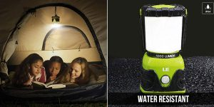 Linterna de cámping LE con 4 modos de luz de emergencia barata en Amazon