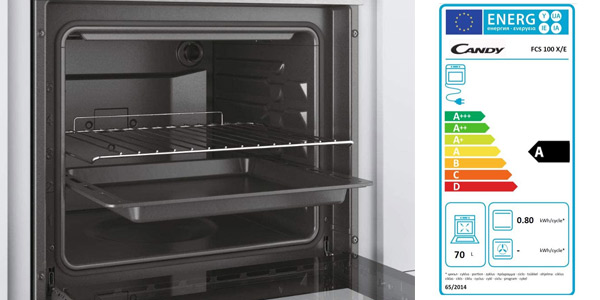 Horno eléctrico encastrable Candy FCS100X/E 2100W de 70L oferta en Amazon