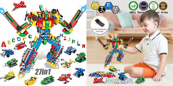 Robot articulado de bloques de construcción Vatos de 644