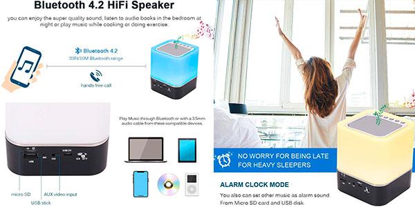 Lámpara altavoz USB Sootop con Bluetooth en oferta