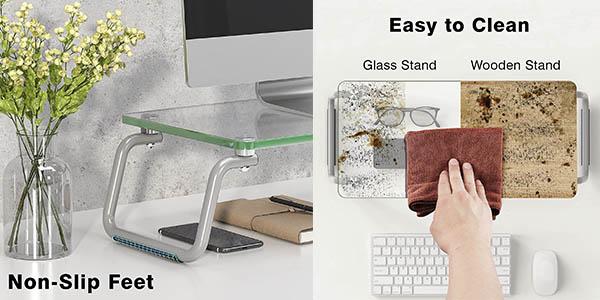 Loryergo soporte monitor cristal templado oferta