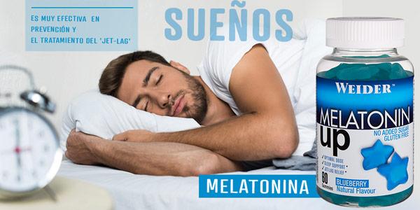 Envase x60 Gominolas Melatonin Up de Weider sabor arándano chollo en Amazon