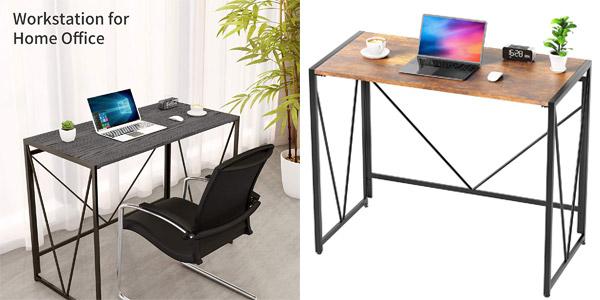 Mesa escritorio plegable Noblewell barata en Amazon