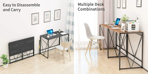 Mesa escritorio plegable Noblewell chollo en Amazon