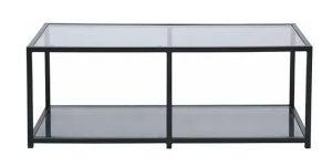 Mesa de centro rectangular gris ceniza barata en ManoMano
