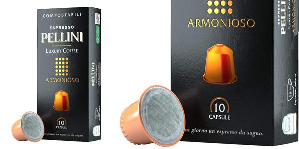 Pack x120 Cápsulas de café Pellini Caffè Espresso Pellini Luxury Coffee Armonioso compatibles con Nespresso chollo en Amazon
