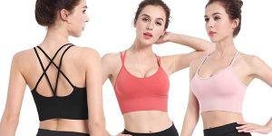 Pack x3 Sujetadores deportivos CMTOP para mujer baratos en Amazon