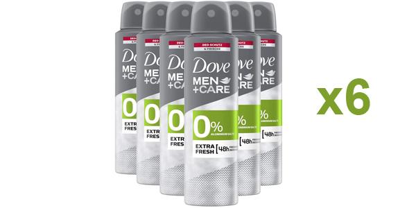Pack x6 desodorante en spray Dove Extrafresco sin sales de aluminio de 150 ml/ud barato en Amazon