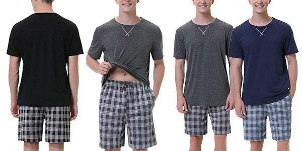 Pijama de verano Irevial 2 piezas para hombre barato en Amazon