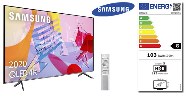 Samsung QLED 2020 65Q64T uhd 4k hdr ia chollo