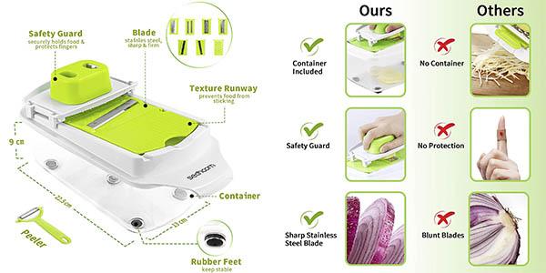 Sedhoom mandolina cocina cuchillas relación calidad-precio