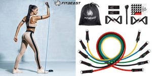 Set x5 Bandas elásticas de resistencia FitBeast barato en Amazon