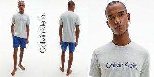 Pijama de verano Calvin Klein S/S Short Set para hombre barato en Amazon