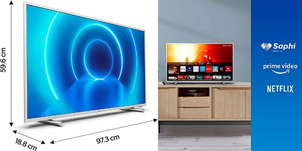 """Smart TV Philips 43PUS7555 UHD 4K de 43"""" en oferta"""