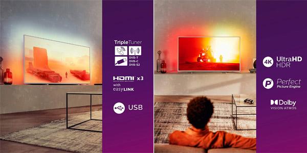 Smart TV Philips 55PUS7855/12 4K UHD chollo en Amazon