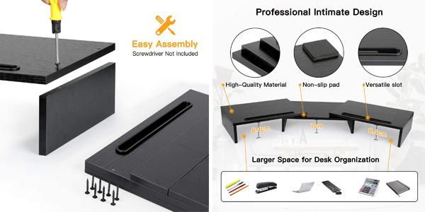 Soporte de mesa para monitor dual Huanuo oferta en Amazon