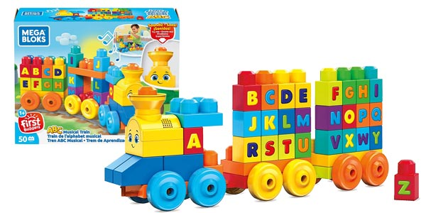 Tren musical ABC de Mega Bloks barato en Amazon