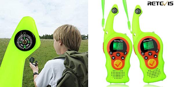 Set x2 Walkie Talkies de 16 canales Retevis RT675 para niños baratos en Amazon