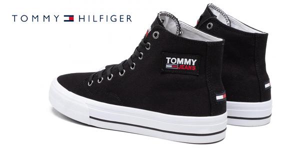 Zapatillas Tommy Jeans Mid Cut Long Lace Up Vulc para hombre chollo en Amazon